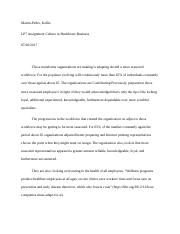 MARTINPEDRO, K LP7 ASSIGNMENT CULTURE IN HEALTHCARE BUSINESS.docx