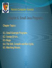 Chapter 6. Small Java Programs