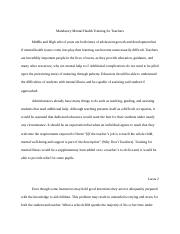 mental health research paper