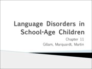 11.1 Language Disorders in School Age Children-1