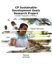 CP Sustainable Development Goals Research Project