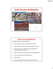 Earth Structrures and Materials
