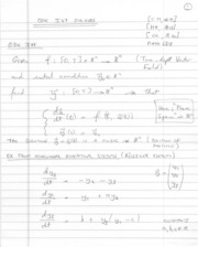 Written notes ODE Solvers I