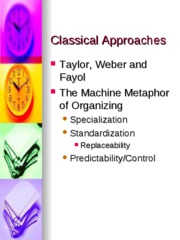 Classical Approaches 2009