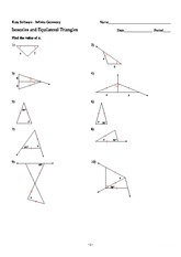 Printables Isosceles And Equilateral Triangles Worksheet mixed practice word problems 6 answersgr5 read answer the 2 pages 4 isosceles and equilateral triangles problems