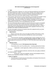 PAP 1301A Fall 2016 - Parliamentary visit assignment 2016-09-16(1)