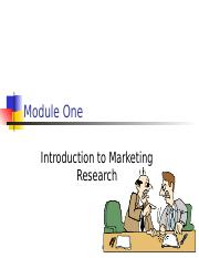 Mkt Research Module 1
