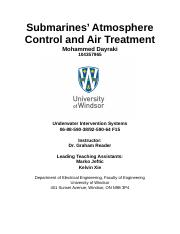 Submarines Atmosphere Control and Air Treatment.docx