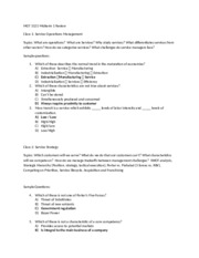 MGT 3121 Midterm 1 Review Answers 2