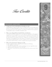 chapter 9 tax credits