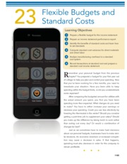 CHAPTER 23 Flexible Budgets and Standard Costs