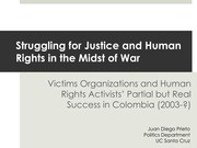 Struggling for Justice and Human Rights