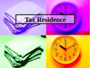 4.4 - Tax Residence
