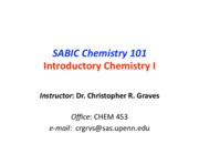 SABIC CHEM 101 Course Overview