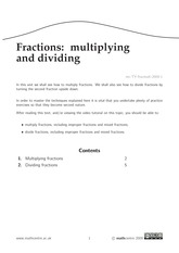 Fractions - multiplying and dividing