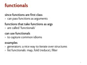 functionals notes