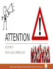 Lecture 5 - Attention