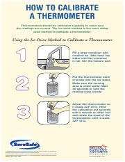 ServSafe How to Calibrate a Thermometer.pdf