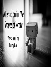 ENG4U Alienation in the Grapes of Wrath