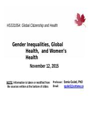 8. Gender Inequalities and Global Health.pptx