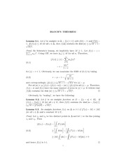 Math 506 Bloch's Theorem Notes