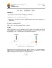 Guía 2. Sistema Masa - Resorte