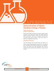 EXP Determination of Water Hardness Using a Titrator(1)