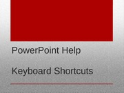 Chapter 2 Powerpoint Project Shortcuts