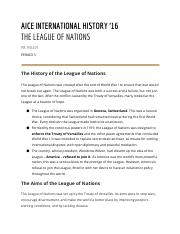League of Nations Study Guide