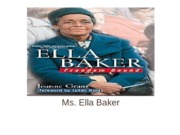Ella Baker and Her Impact on Civil Rights