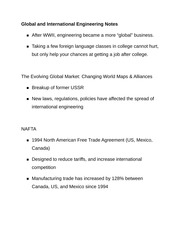 Global and International Engineering Notes