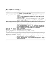 Personal Development Plan-2