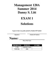 Accounting 120A Exam 1 - Summer 2014 - Solutions (1)