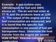 Combustion example