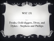 Freaks, Gold Diggers, Divas, and Dykes by Stephens and Phillips