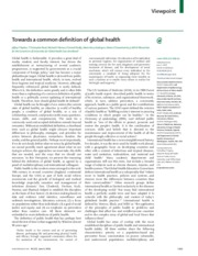 common definition of global health