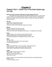 Chapter 6 - a brief tour of the solar system