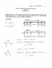 CE 330 Exam 1 Solutions