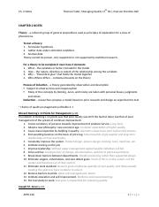 Ch 2 Notes - Managing Quality 5th ed.
