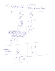 Quotient Rule Division Power With Same Base Class Note For MPM 1D0