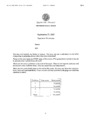 Math 110 - Fall 2002 - Holm - Midterm 1