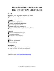 Pre-Interview Checklist for Video Interviews.pdf
