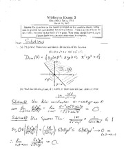 Midterm Exam 2 solutions