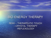 CAREY BIO-ENERGY THERAPY 2010