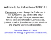 1 BCH210H Fall 2014 Patterson Carbohydrates - October 30&31, 2014