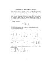 UCSB_Math 4A_MIdterm 2 Practice_Spring 2015