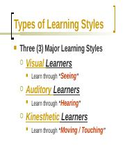 Taking Advantage of Your Learning Style(1).pptx