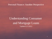 09 Consumer and Mortgage Loans