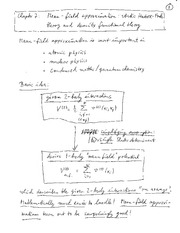 Physics 365_Class Notes on Mean Field Approximation - Static Hartree-Fock (HF) and Density Functiona