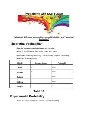 Copy of Probability with SKITTLES justin dill